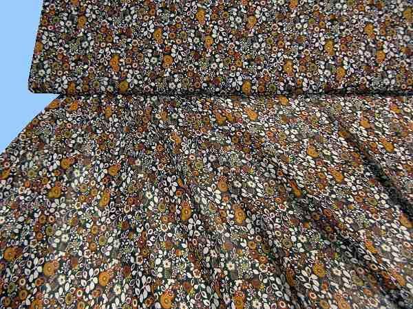 Chiffon - schwarz/khaki/ocker/orange/terrakotta/rot/weiss