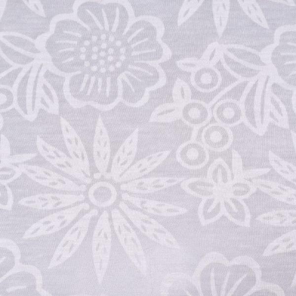 Ausbrenner Feinjersey mit Blumen-Motiv - wollweiss