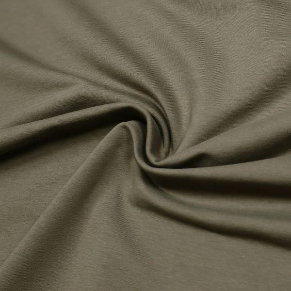 Baumwoll- Sommersweat Stoff uni - khaki Extra breit !