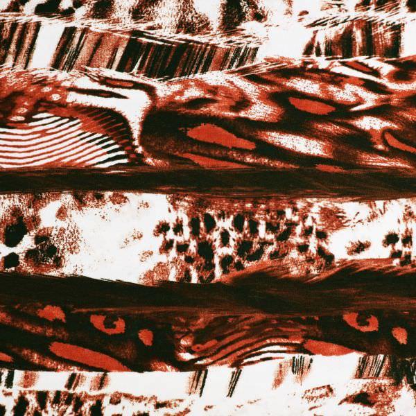 Viskosejersey mit Leoparden-Muster - weinrot/braun/weiss/schwarz