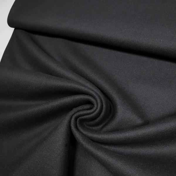 Wollstoff uni - schwarz (Reststück - 2,5m)