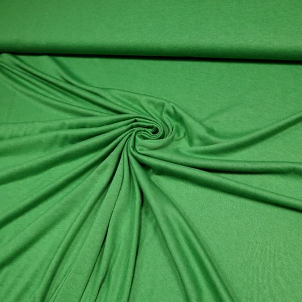 Feinstrick-Jersey uni - grün Extra breit !