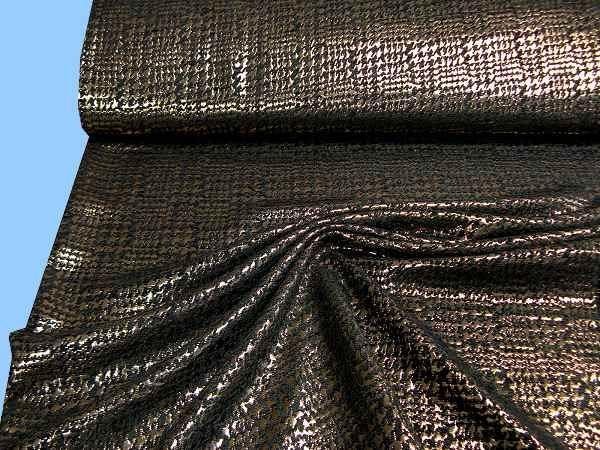 Kostümstoff mit Lurex - gold/schwarz