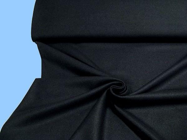Wolltuch - schwarz/nachtblau