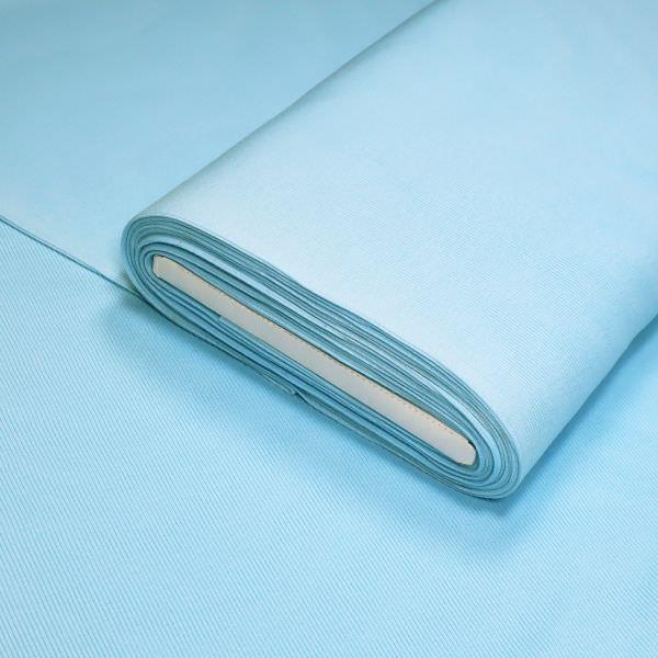 Rippen- Bündchenstoff Schlauchware uni - hellblau