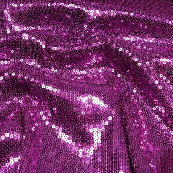 Pailletten-Tüll Glamour - violett