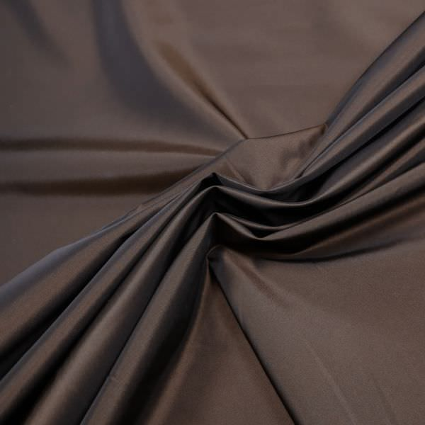 Jackenstoff Taft Changierend - braun/schwarz