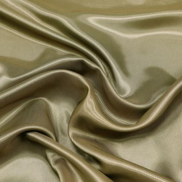 Cupro- Futterstoff changierend - khaki/terrakotta