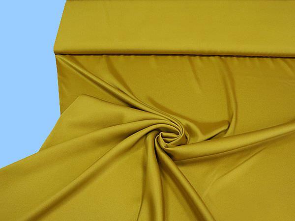 Blusen und Kleiderstoff uni - senfgelb (2.Wahl)