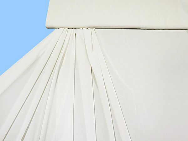 Chiffon uni - ecru (Reststück 5,8m)