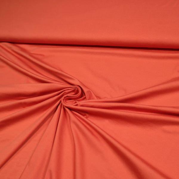 Baumwolljersey uni - rotorange Extra breit !