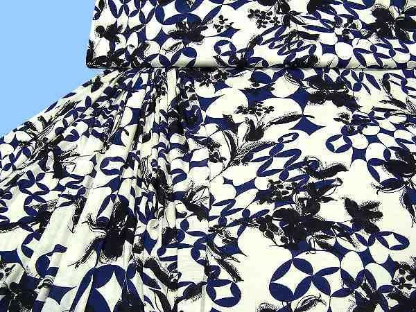 Viskosejersey - wollweiss/dunkelblau/schwarz