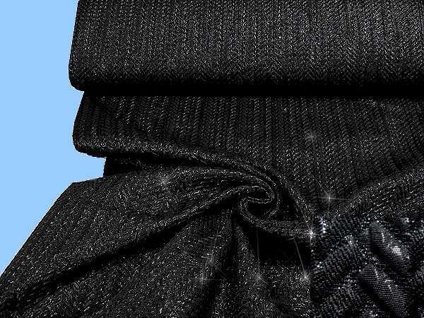 Jackenstoff glänzend, strukturiert,schwarz