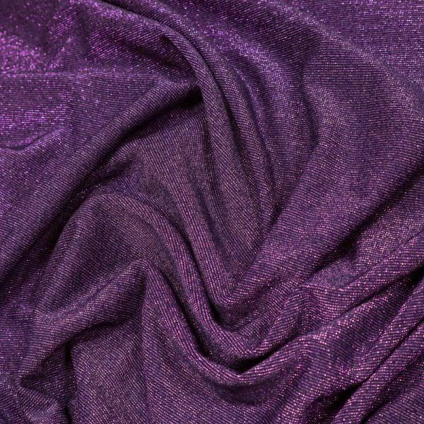 Feinstrick-Jersey Lurex - violett/nachtblau