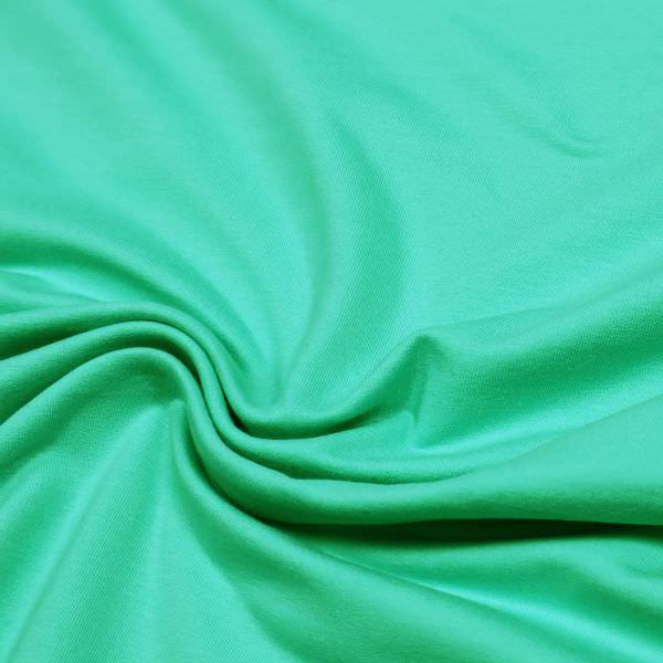 Baumwoll- Stretch Sommersweat Stoff uni - mintgrün