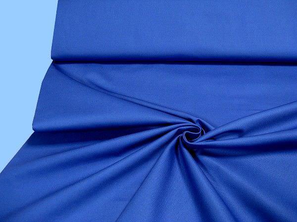 Baumwollstoff - royalblau
