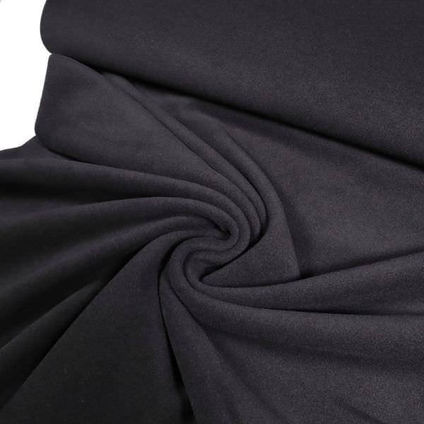 Mantelvelour uni - schwarz (Reststück - 3,6m)