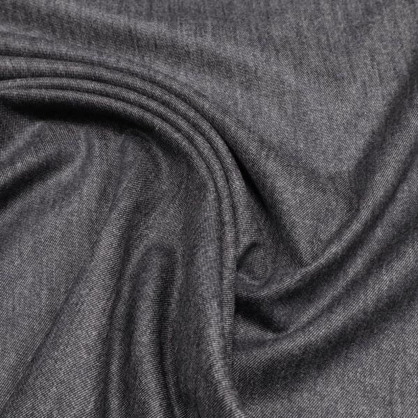Stretch Jeansstoff Denimlook - schwarz
