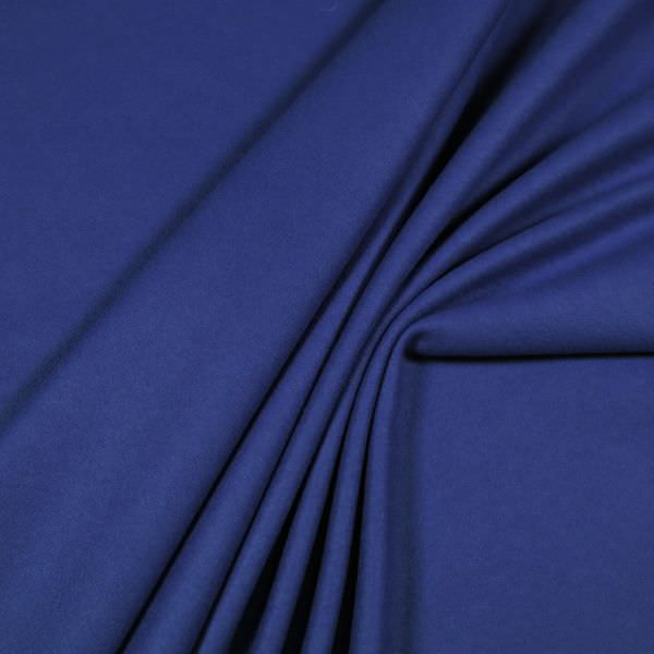 Wollstoff-Mix uni - königsblau (Reststück 1,9m)