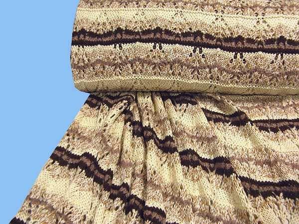 Strick mit Lurex - wollweiss/beige/braun/gold