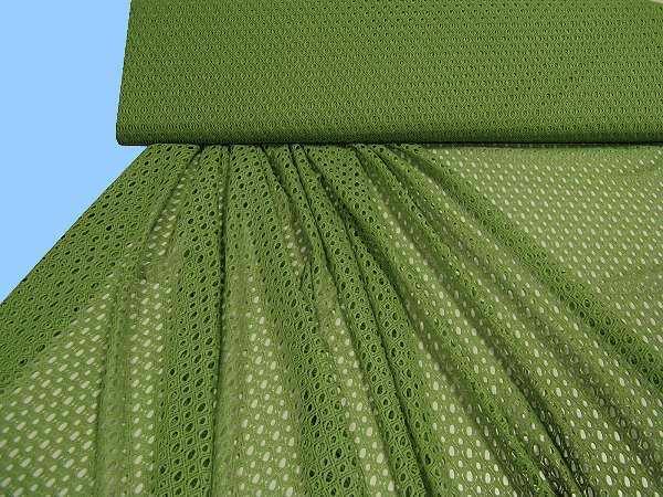 Netzstoff uni - grün