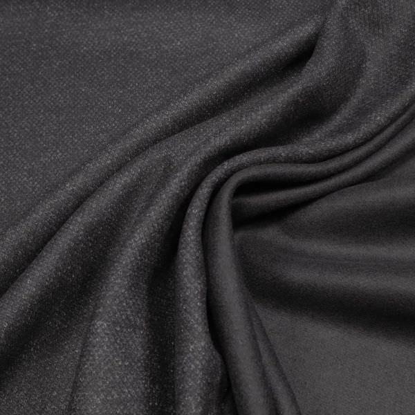 Wollstoff-Mix Melange - schwarz/grau