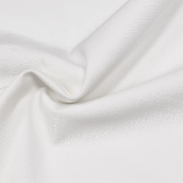 Baumwollstoff feine Struktur uni - wollweiss