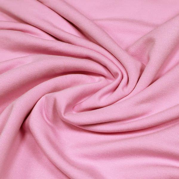 Stretch Sweatshirt Stoff mit angerauter Innenseite - rosé Extra breit !