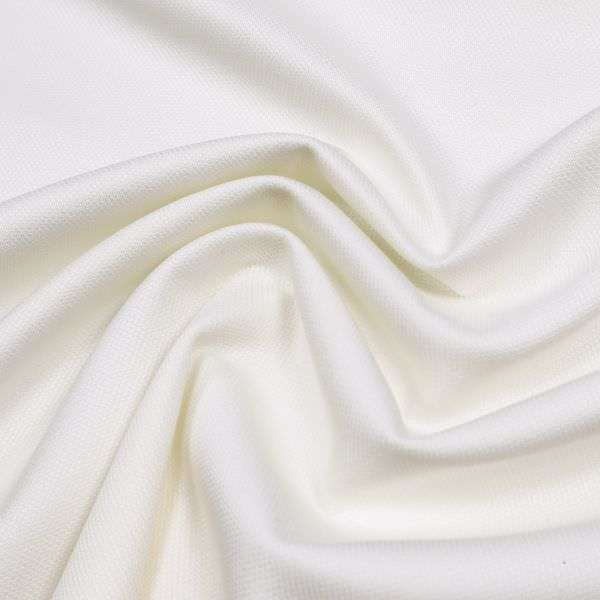 Stretch Baumwollstoff feine Struktur uni - wollweiss
