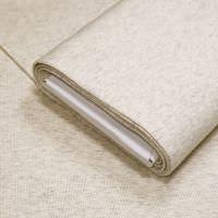 Rippen- Bündchenstoff Schlauchware Melange - creme/grau