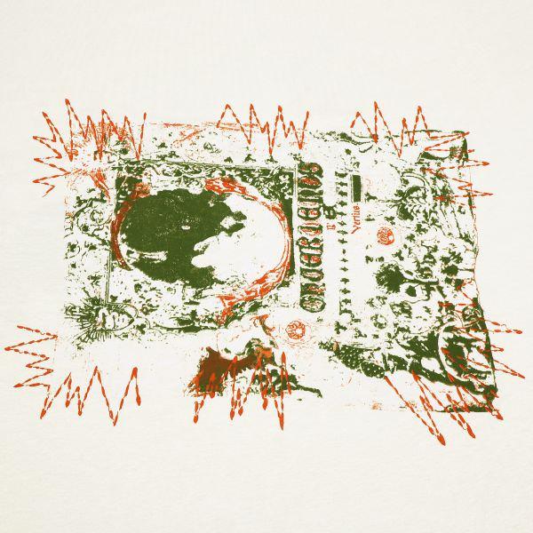 Viskosejersey Abstrakt - wollweiss/olivgrün/terrakotta