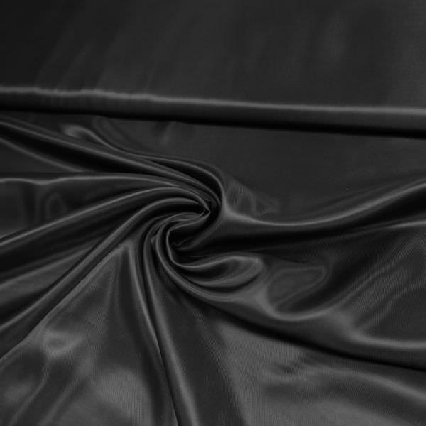 Viskose- Futterstoff uni - schwarz