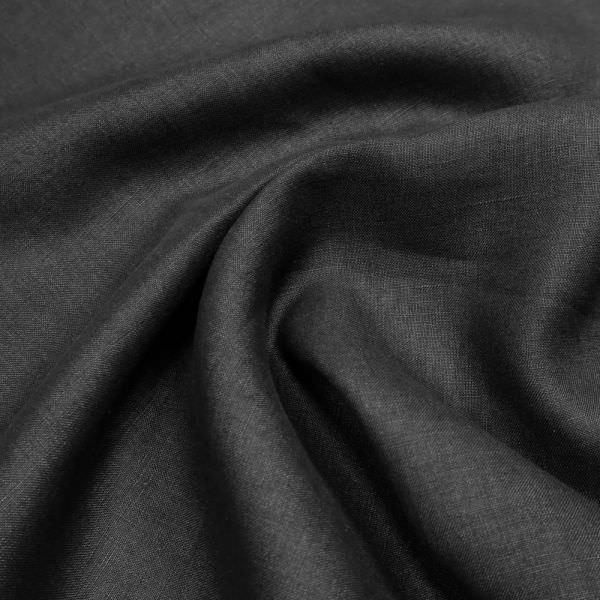 Leinen-Viskose-Mix uni - schwarz