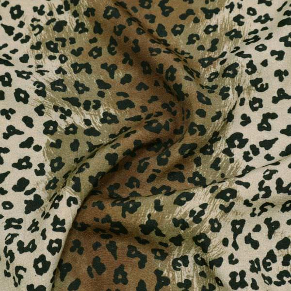 Viskose Crêpe mit Leoparden-Muster - beige/khaki/braun/schwarz
