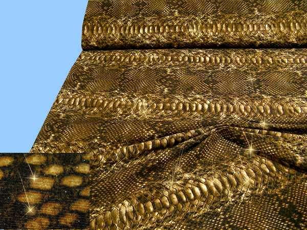 Baumwollmischung mit Schlangenmuster- hellbraun/braun/beige