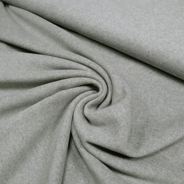 Mantelvelour Melange - grau