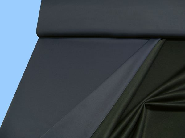 Baumwollstoff (Mischung) - dunkelblau/schwarz