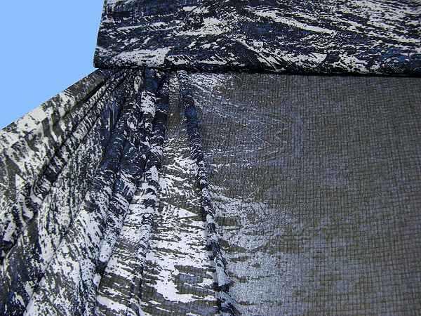 Chiffon mit Musterverlauf - grau/marine/schwarz