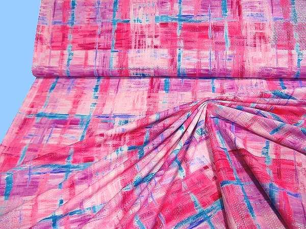 Feinjersey - pink/fuchsia/türkis/flieder/weiss