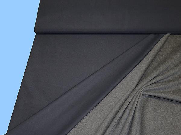 Cupro- dunkelblau/grau