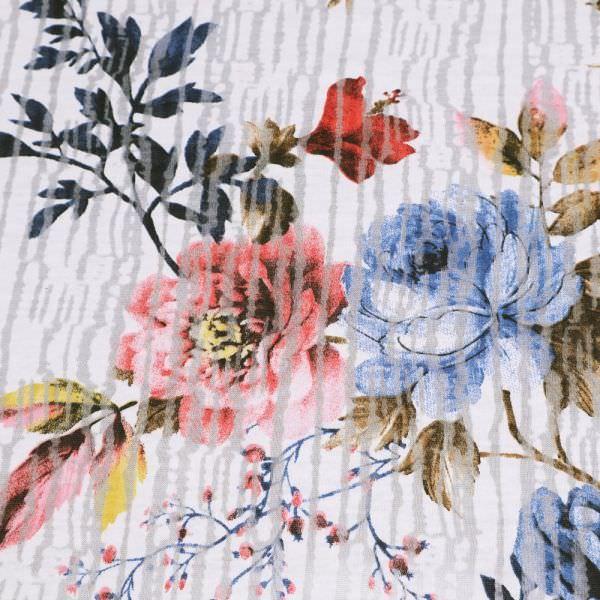 Ausbrenner Jersey Streifen & Rosen - wollweiss/blau/rot/braun
