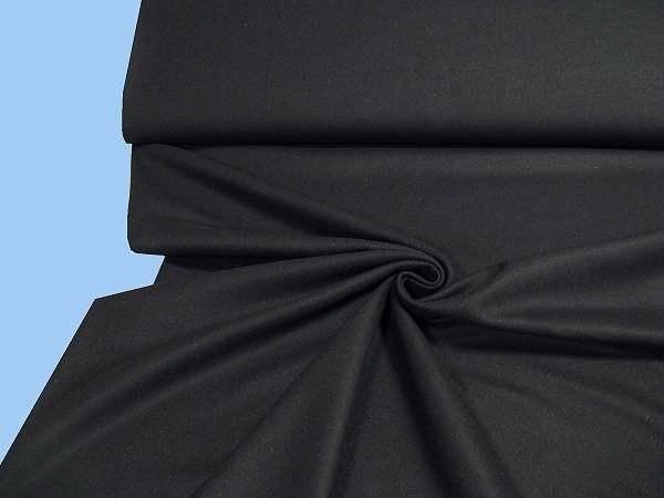 Wolltuch uni - schwarz