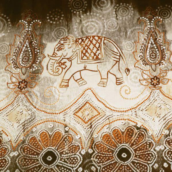 Baumwollstoff Africanstyle - braun/beige/terrakotta/wollweiss