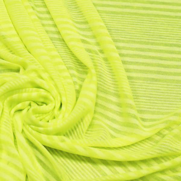 Feinjersey mit Streifen - neongelb/weiss