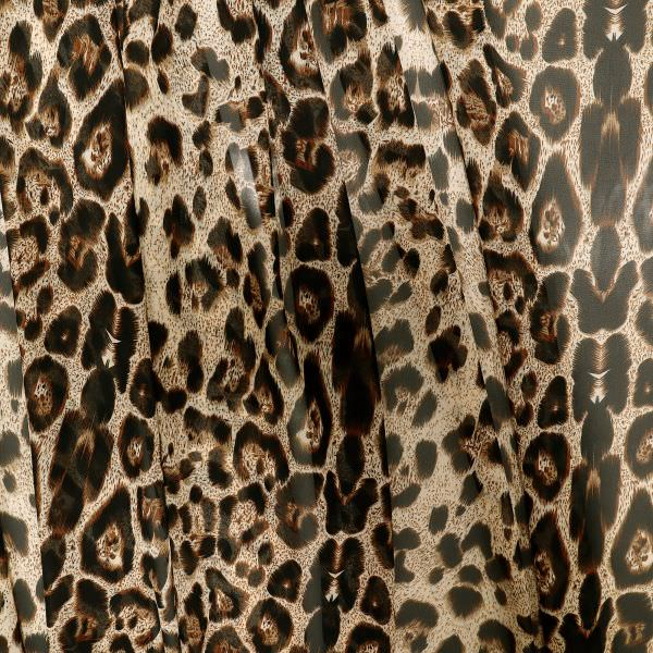 Chiffon mit Leoparden-Muster - beige/braun/schwarz