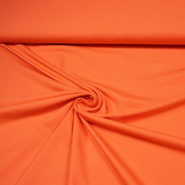 Baumwolljersey uni - orange