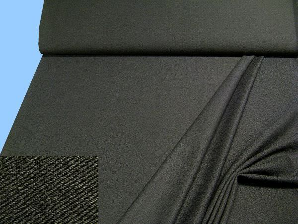 Wolle-Polyester-Mix Melange - schwarz/grau