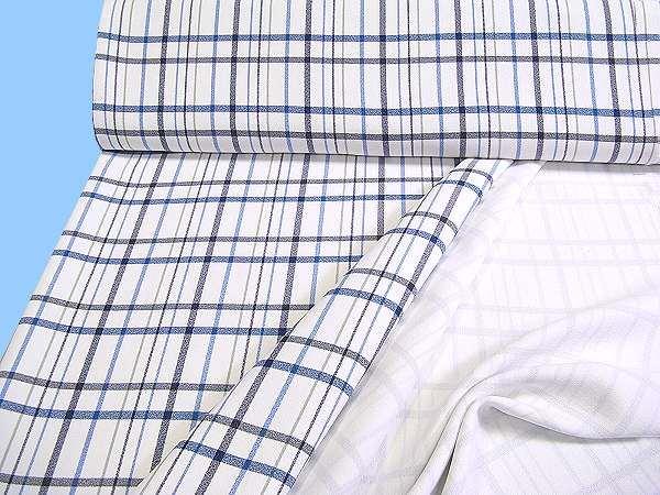 Georgette weiss/blau/petrol/schilfgrün/schwarz