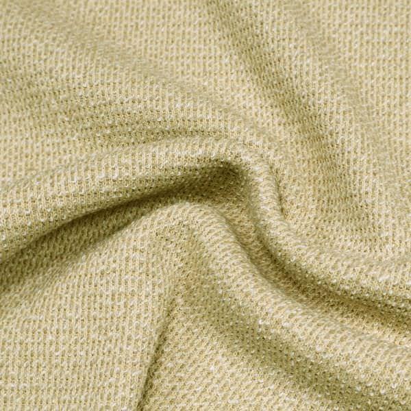 Baumwoll- Bouclé Strick - beige/taupe/wollweiss