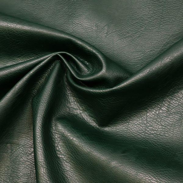 Lederimitat Vintage uni - dunkelgrün